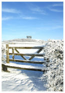 Penshaw Monument in Snow